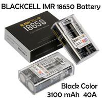 Blackcell IMR18650 batteria 3100mAh 40a 3.7 V ricaricabile al litio vape al litio piano alto alto scolare 18650 scatola mod 100%