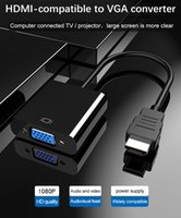 HDMI uyumlu VGA Adaptör Kablosu Dijital Analog 1080p Video HDTV PC Dizüstü Projektör için VGA Dönüştürücü için HDMI uyumlu