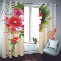 2021 de alta qualidade blackout cortina janela fotografia cortinas para sala de estar quarto quarto europeu lindas flores