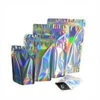 Food Savers & Storage Containers 20 Pcs Laser Aluminum Foil Resealable Value Pack Stand Up Bag Hologram Self Seal Zipper Plastic Po