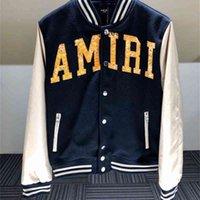 2021 luxurys designers amiro Amir i style wool tweed laser printed embroidered letter collage jacket Baseball Jacket high street man