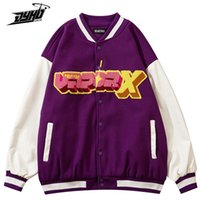 Men's Jackets Mens Varsity Jacket Cartoon Heart PU Leather Patchwork Bomber Winter Harajuku Streetwear Baseball Unisex Outwear
