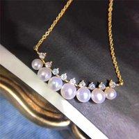 Pendentif Colliers Colliers naturels Perles de culture de culture Tibétaine Chaîne en argent de bonne qualité Pearl 4-7mm Collier 16 pouces