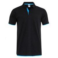 Summer Algodão Poloshirt Tamanho Grande Sportswear Jersey 3xl Camisa Polo Camisa de Polo Branco Mangas curtas