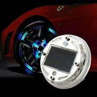 2/1pcs Auto et Moto Lampes décoratifs de la moto LED Pneumoires de pneumates de couleur 4 modes 5W Energy Solar Flash Tire Tire