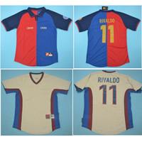 التايلاندية 1998 1999 Rivaldo الرجعية لكرة القدم الفانيلة جوارديولا قميص كرة القدم puyol xavi جيرسي 100 سنة فيجو الكلاسيكية مايوه دي القدم
