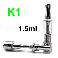K1 Atomizer BDC BVC Bobina 1.5ml Cumple con vidrio Tanque de Vape para EVOD EGO 510 Batería de hilo