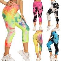 Donne con texture leggings push-up palestra collant sexy tanym controllo sport yoga pantaloni vita ad alto vita legging fitness in esecuzione pantaloni Capri