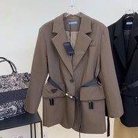 Costume Femme Coat Automne Hiver Designer Vestes Fashion Association Triangle inversée Moyenne et longue de longue qualité Taille S-L