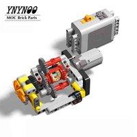Novo Mini Automático 2 Speed Gearbox MOC Edifício Tijolos Kit de tijolos Peças Pack Grupo mecânico DIY brinquedos educativos presentes