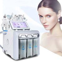 6in1 Гидрафакальная дермабразия машины для воды Кислородная кожура глубокой очистки РЧ поднятие холодного молотка Microdermabrasion