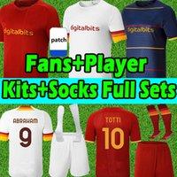 2020 21 As Roma camisas de futebol totti dzeko zaniolo kluivert Homens+mulheres+crianças kits 20 21 roma camisas uniformes calças Camisolas de futebol