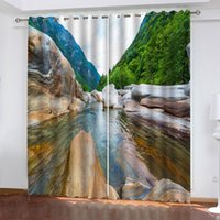 Mountain View Blackout Window Drapes Luxury 3D Curtain For Living room Bedroom Office Hotel Home Decor