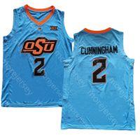 오클라호마 주 osu NCAA 대학 농구 유니폼 2 Cunningham 청소년 성인 모두 스티치