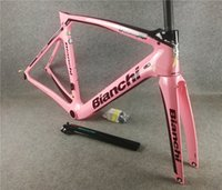 20 Colors Bianchi XR4 Frame Carbon Road Bike Frames Bicycle Frameset With Fork+Seatpost+Headset+Clamp BB386 Pink in stock