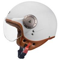 Motocicleta capacete capacete jet vintage face aberta / 4 metade