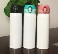 17Oz Sublimation Gerade Trinkbecher 500ml Schwarz Weiß Wasserflasche Für Sublimation Edelstahl Isolierte Vakuum Bouncing Cup