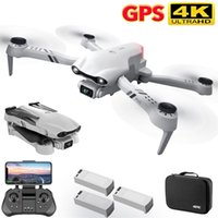 4DRC 4K HD dual camera with GPS 5G WIFI wide angle FPV real-time transmission rc distance 2km professional drone 210915