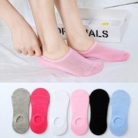 Socks & Hosiery 10 Pieces = 5 Pairs Summer Women Invisible Sock Slippers Candy Color Woman Ladies Short Ankle Gift Skarpetki Calcetines