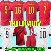 2021 Belgium Belçika futbol formaları De Bruyne LUKAKU 21 22 futbol forması TEHLİKE BATSHUAYI Camiseta futbol KOMPANY DEMBELE maillot de foot Erkekler Çocuk Kiti çorap Üniforma