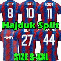 2021 2022 Hajduk Split Camisa de futebol away 21/22 Simic LIVAJA Vuskovic BLUK EDUOK football shirts top thailand quality maillot de foot
