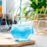 Wine Glasses Milk Cup Colored Crystal Glass Geometry Hexagonal Cups Phnom Penh Whiskey-Cup CGY175
