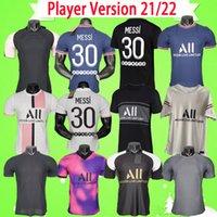 Versão do jogador PSG camisa de futebol 2021 2022 Maillot de foot paris rosa terceiro roxo casa fora azul branco quarto vermelho 21 22 MBAPPE camisa de futebol de alta qualidade