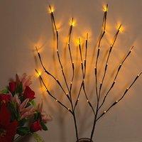 20 المصابيح led أضواء الصفصاف الفرع مصباح الطبيعي طويل القامة زهرية حشو غصين مضاءة فرع عيد الميلاد الزفاف الأضواء الزخرفية الأزرق