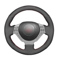 Steering Wheel Covers Black Suede Hand-stitched No-slip Soft Car Cover For GTR GT-R (Nismo) 2008 2009-2021
