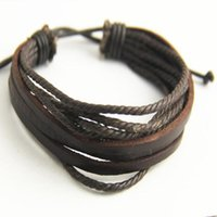 Link, Chain Multilayer Bracelets & Bangles Mens Leather Pulseira Masculina Jewelry Charm Bileklik Pulseiras Boyfriend Gift