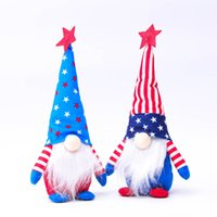 American Forest Old Man Bambola American Bandiera Indipendenza Giorno Indipendente Abbonamento Old Man Doll Finestra Decorazione creativa W-00703