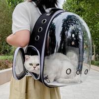 Перевозчики кошек, ящики Дома Дома Носитель Рюкзак Baguf Out Портативная клетки для животных Прозрачный