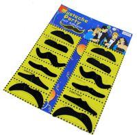 12pcs / 세트 할로윈 파티 의상 가짜 콧수염 콧수염 재미 있은 가짜 수염 위스커 파티 - 의상 성인 어린이 장난감 GWA7044