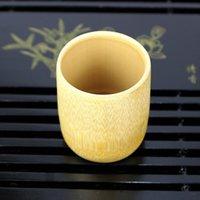 Xícaras Saucers Estilo Japonês Natural Bambu Tea Copo de Água Cerveja De Café De Café De Café Barra de Barra de Cozinha Ferramenta