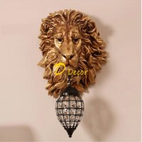 Wall Lamps Crystal Lights French Luxury Lion Animal Shade Led Lamp Home Decor Kitchen Light Indoor Lighting Sconce