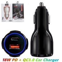 Fast Quick Car Charger 18W PD + QC3.0 USB Car Charging for Iphone x xr xs 11 12 13 pro max Samsung Lg android phone PC Gps MQ50