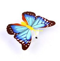 Novelty Lighting LED glowing butterfly night light adhesive wall lamp