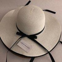 Casual Verão Palha Mulheres Grande Brim Brim Beach Dobrável Sun Bloco UV Proteção Panamá Chapéu Bone Chapeu Feminino Y0223