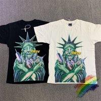 2021SS AŞAĞI T Gömlek Erkek Kadın 1: 1 Yüksek Kaliteli Yaz Tarzı Moda Rahat Üst Tees Streetwear T-Shirt C0304