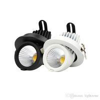 7W 15W 20W 30W 40W LED DOWN PLAQUES HAUT PUISSANCE COB Downlights Super lumineux Angle réglable Angle Encastré Lampes de plafond LED