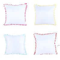 Massivfarbkissenabdeckung Farbkante mit mehreren Kissenbezug Sofa Weiß Kissenbezug Haarkugelkante HWF5519