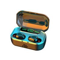 G20 TWS Fones de ouvido sem fio 9D Estéreo Bluetooth 5.0 fone de ouvido LED Power Display Headset IPX7 Earbuds Sem Fio À Prova D 'Água
