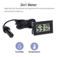 MINI PRATICIENT DIGITAL Thermomètre à écran LCD Capteur Hygromètre Gauge Réfrigérateur Surveillance de l'Aquarium Affichage Humidité Détecteur