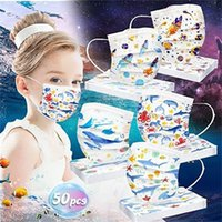 Disposable 3 layers Kids fashion mask  Christmas Designer Rainbow Cute Cat Face Masks Non-Woven Anti-Dust top quality