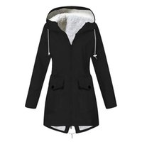 Plus Size Winter Jackets For Women Hooded Fashion Solid Plus...