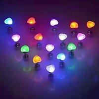 Bolzen-LED-herzförmige leuchtende Ohrringe leuchten Bling Ohr für Party Zirkon Frauen-Flash-Accessori G9H6