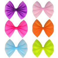 """Hair Accessories Ncmama 4.5"""" PVC Hairpin Waterproof Bow For Cute Baby Girls Solid Clips Handmade Barrettes Kids"""