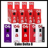 Cake Delta 8 Kit de démarreur jetable E Dispositif de cigarettes Full Gram Capacité de 1 ml Capacité vide Pod de vape rechargetable 280mAh Batterie pour huile épaisse vs bar Plus Max Bang XXL