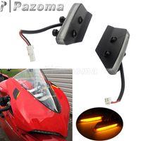 Plug and Play Black Mirror Block Off LED Turn Signaler för Ducati 959/1299 Panigale Motorcykel LED Turn Signal Indikator Flasher