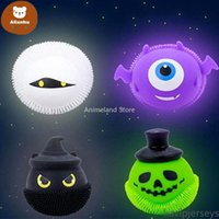 US Stock DHL 3-7 Days Delivery Favor Decompression Fidget Toy Glowing Halloween Little Devil Pinch Music Ball Spoof To Vent Adult Toys Factory Wholesale